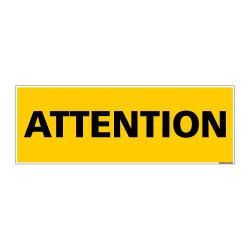 Panneau de Signalisation ATTENTION (C1138)