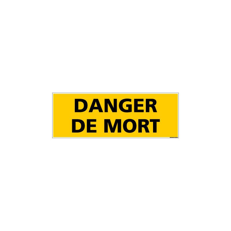 Panneau de Signalisation DANGER DE MORT (C1139)