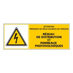 ADHESIF PHOTOVOLTAIQUE PRESENCE DE DEUX SOURCES (C1169)