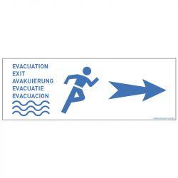 PANNEAU ÉVACUATION - FLÈCHE DROITE (B0455)