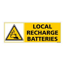 Panneau de Signalisation LOCAL RECHARGE BATTERIES (C1185)