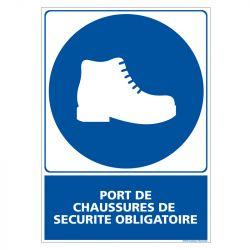 PANNEAU CHAUSSURES DE SÉCURITÉ OBLIGATOIRES (E0760)