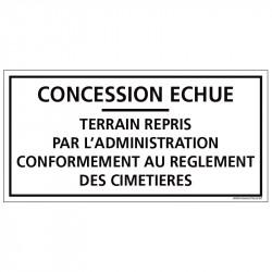 PLAQUE CONCESSION ECHUE...