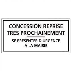 PLAQUE CONCESSION CIMETIÈRE (G1618)