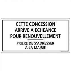 PLAQUE CONCESSION CIMETIÈRE (G1607)