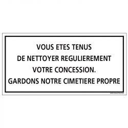 PLAQUE CONCESSION ABANDONNÉE CIMETIÈRE (G1610)