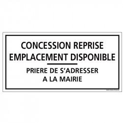 PLAQUE CONCESSION REPRISE...