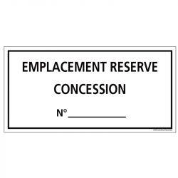 PLAQUE CONCESSION EMPLACEMENT RÉSERVÉE PERSONNALISABLE CIMETIÈRE (G1621)