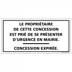 PLAQUE CONCESSION EXPIRÉE...