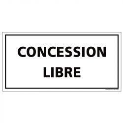 PLAQUE CONCESSION LIBRE CIMETIÈRE (F0444)