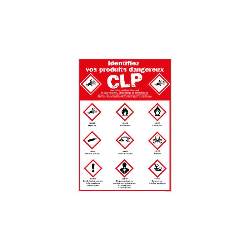Panneau de Signalisation IDENTIFIEZ VOS PRODUITS DANGEREUX (C1234)