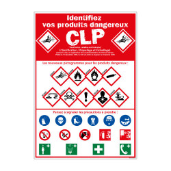 Panneau de Signalisation IDENTIFIEZ VOS PRODUITS DANGEREUX (C1235)