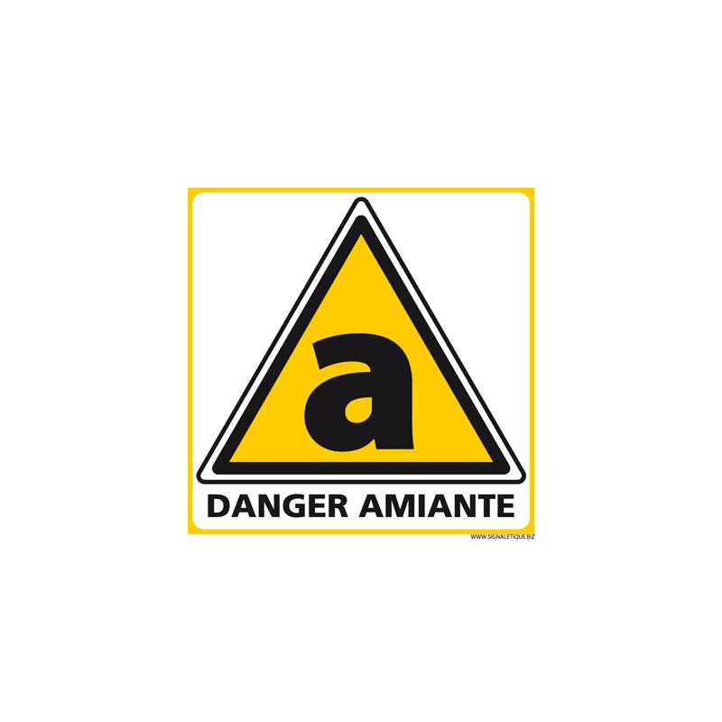 Panneau de DANGER SUR AMIANTE (C1247)