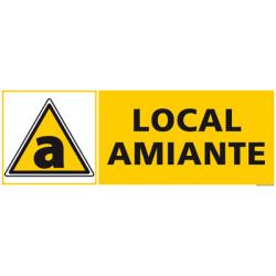 Panneau DANGER LOCAL AMIANTE (C1248)