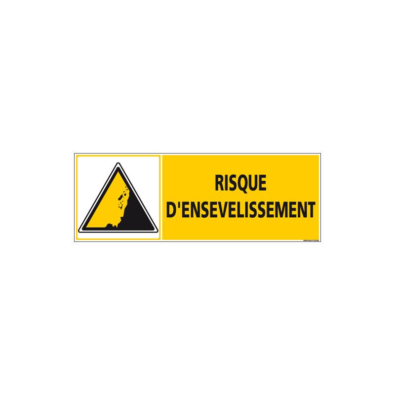 Panneau RISQUE D'ENSEVELISSEMENT (C1250)