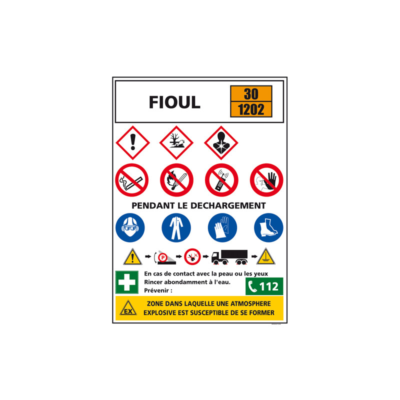 Consigne produits dangereux FIOUL (C1297)