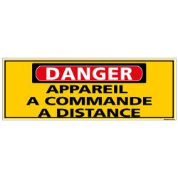 Panneau - DANGER - Appareil a commande a distance (C1313)