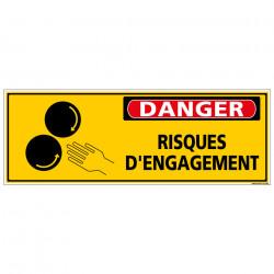 Panneau - DANGER - Risques d'engagement (C1325)