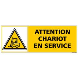 Panneau signalisation - Attention chariot en service (C1330)