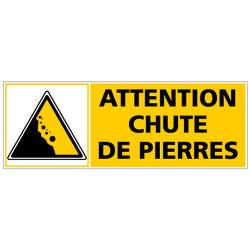 Panneau ATTENTION CHUTE DE PIERRE (C1331)