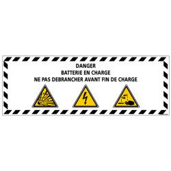 Panneau - DANGER BATTERIE EN CHARGE (C1336)