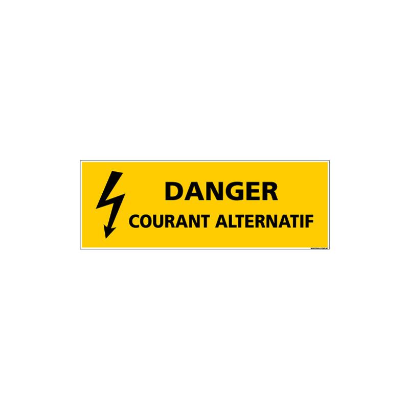 Panneau DANGER COURANT ALTERNATIF (C1340)