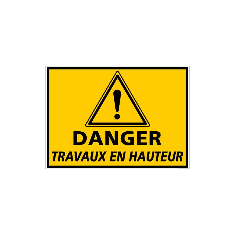 Panneau DANGER TRAVAUX EN HAUTEUR (C1343)