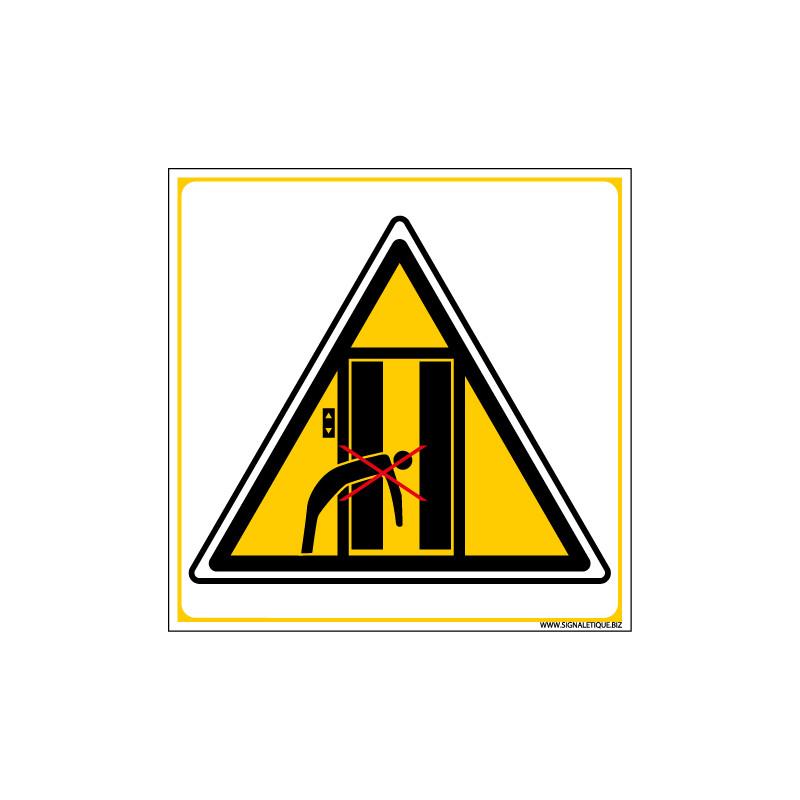 Panneau DANGER INTERDICTION DE SE PENCHER (C1344)
