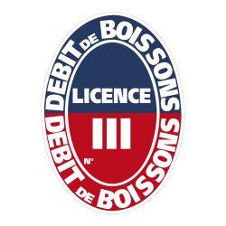 PANNEAU DEBIT BOISSONS LICENCE I A III (G0836_III)