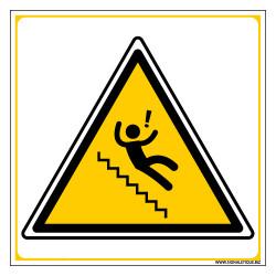 Panneau DANGER ATTENTION CHUTES (C1345)