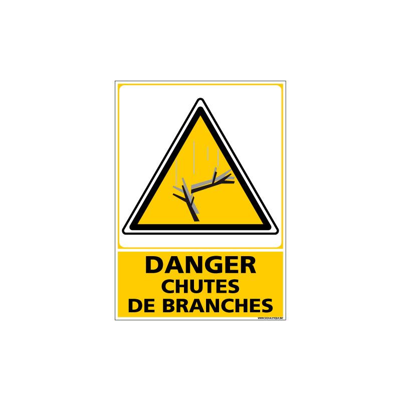 Panneau DANGER CHUTES DE BRANCHES (C1351)