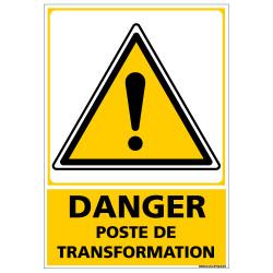 Panneau DANGER POSTE DE TRANSFORMATION (C1355)