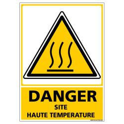 Panneau DANGER SITE HAUTE TEMPERATURE (C1357)