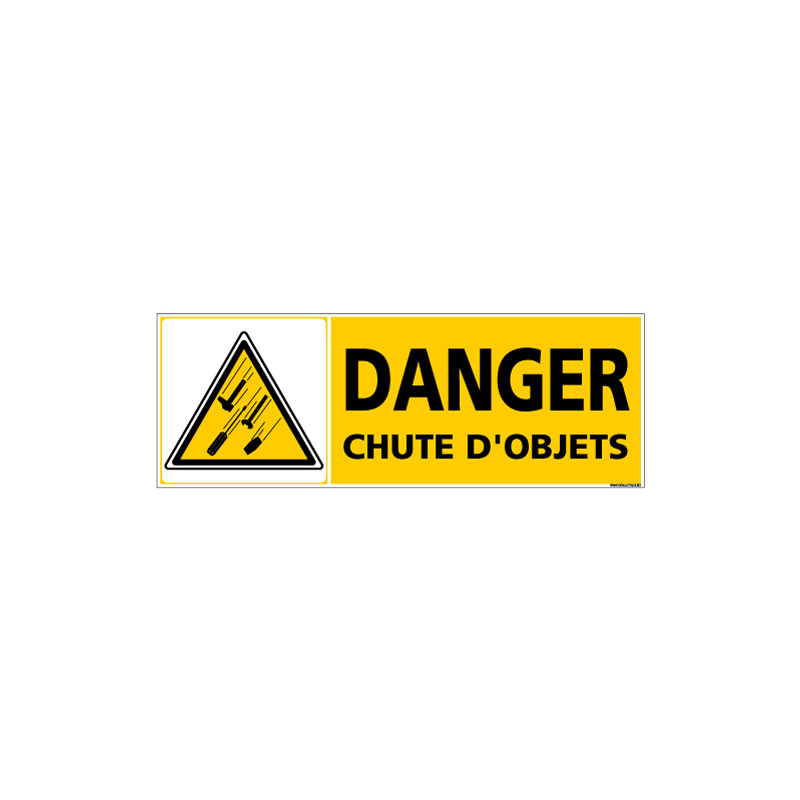Panneau DANGER CHUTE D'OBJETS (C1359)