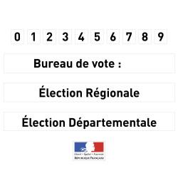 KIT LETTRAGE POUR PAROI EN PLEXIGLASS - BUREAU DE VOTE (WPACK_ELECTION)