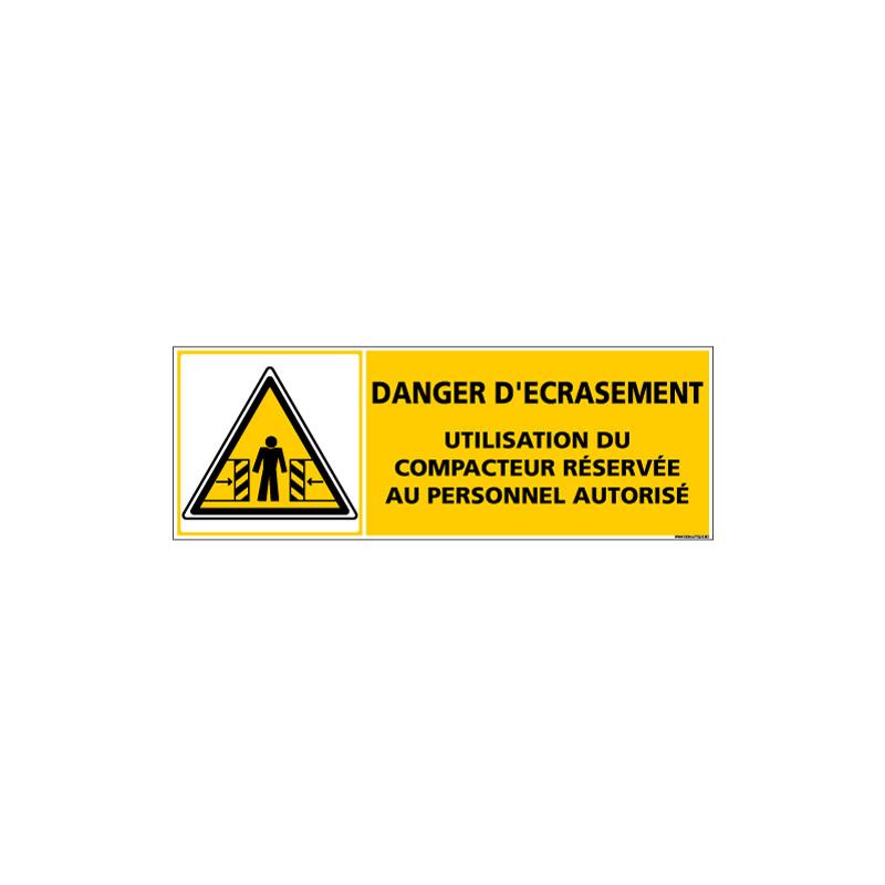 Panneau DANGER D'ECRASEMENT (C1367)