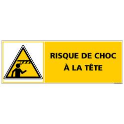 Panneau - RISQUE DE CHOC A LA TETE (C1371)