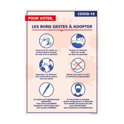 PANNEAU, LES BONS GESTES À ADOPTER COVID-19 - (G1628)