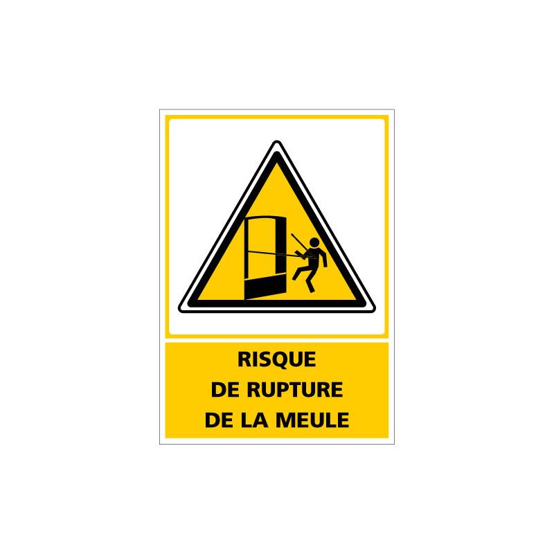 Panneau de signalisation - Danger - Risque de rupture de la meule (C1381)