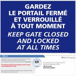 Panneau  gardez le portail...