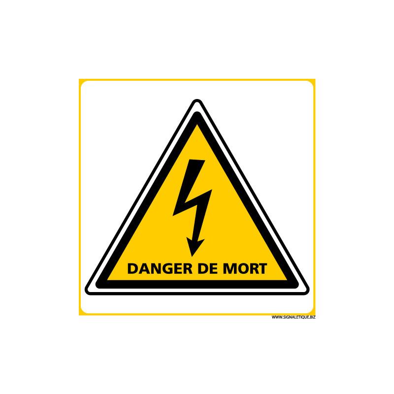 PANNEAU DANGER DE MORT (C1387)