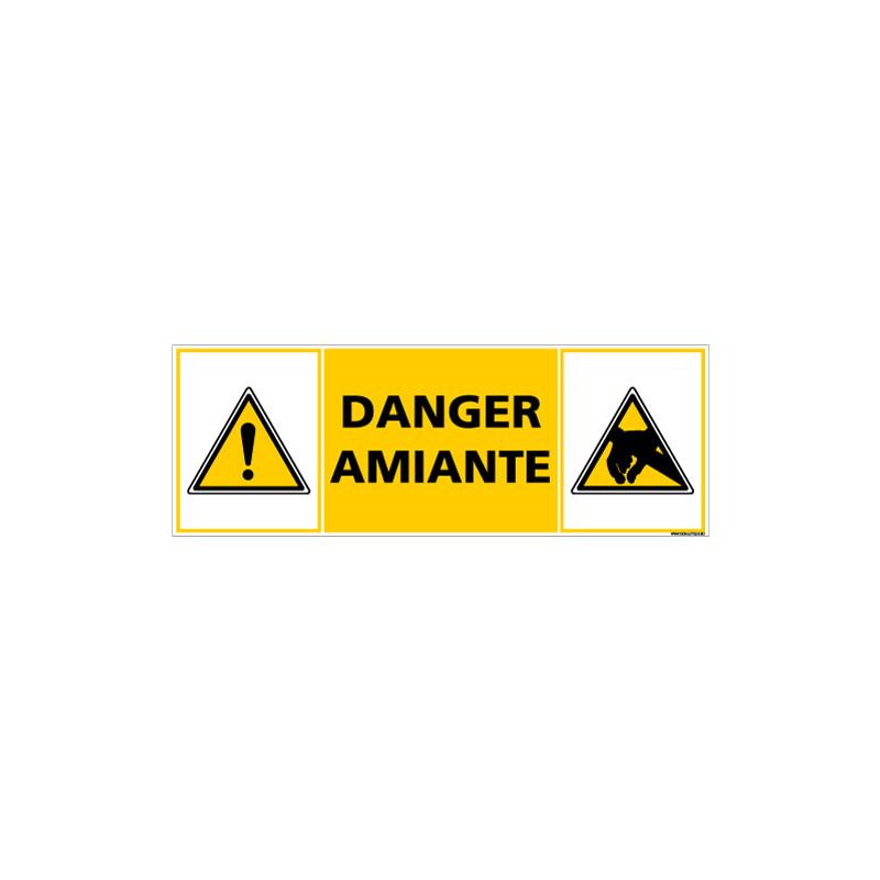 PANNEAU DANGER AMIANTE (C1388)