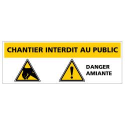PANNEAU DANGER AMIANTE CHANTIER INTERDIT AU PUBLIC (C1389)