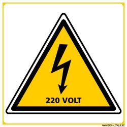 PANNEAU DANGER ELECTRIQUE 220VOLT (C1391)