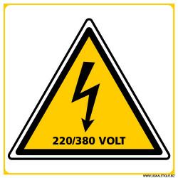 PANNEAU DANGER ELECTRIQUE 220/380 VOLT (C1392)