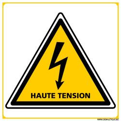PANNEAU DANGER ELECTRIQUE HAUTE TENSION (C1393)