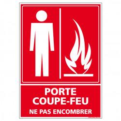Panneau de Signalisation Incendie PORTE COUPE FEU (A0245)