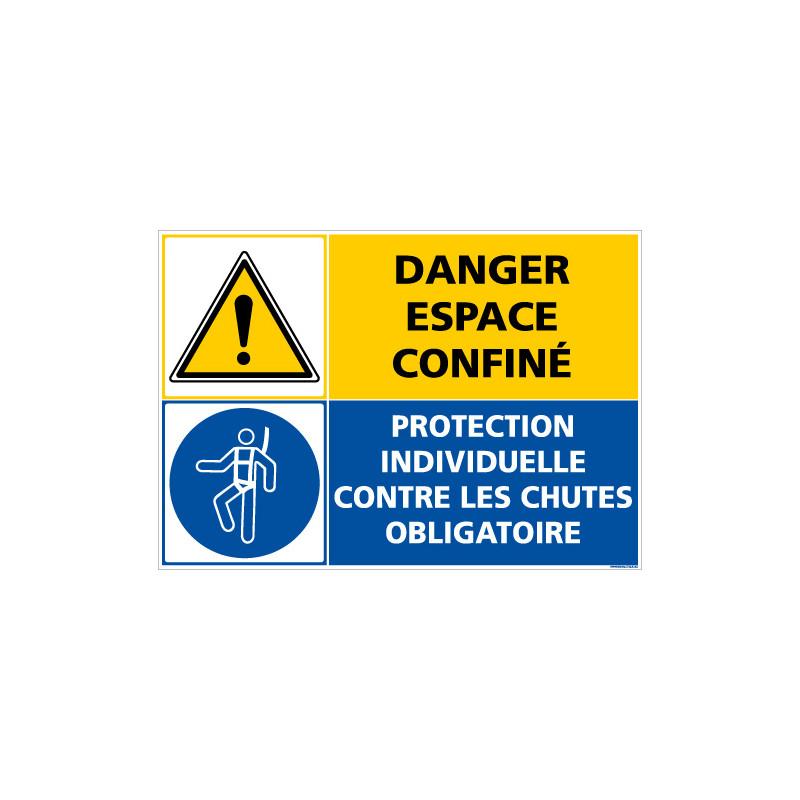 PANNEAU DANGER ESPACE CONFINE - EPI OBLIGATOIRE (C1401)