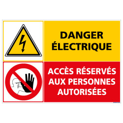 PANNEAU DANGER ELECTRIQUE ACCES RESERVES (C1412)