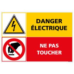 Panneau DANGER ELECTRIQUE NE PAS TOUCHER (C1414)
